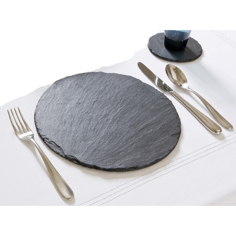 Slate Placemats Round Tablemats From, Placemat For Round Table