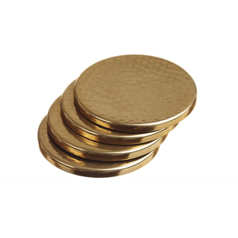 Just Slate Gold Round Coasters