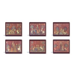 Lady Clare Pallas Tapestry Coasters