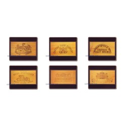 Lady Clare Wine Labels Coasters