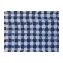 Mountain Weavers Tavern Check blue white cotton placemats