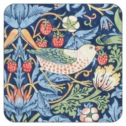 Pimpernel Strawberry Thief Blue Coasters
