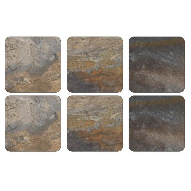 Pimpernel Earth Slate Coaster