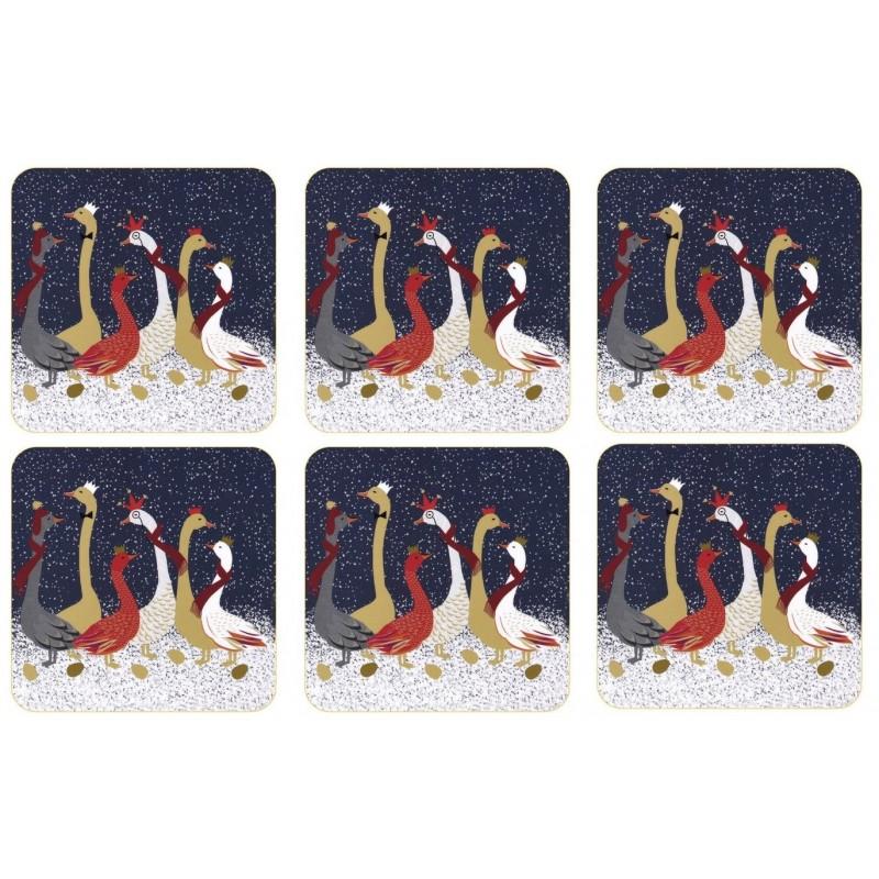 Pimpernel Sara Miller Geese Coaster set of 6