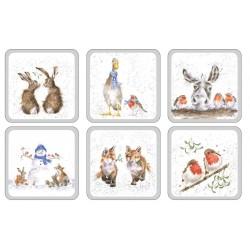 Pimpernel Wrendale Christmas Coaster