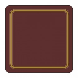 Plymouth Pottery Regal Claret Burgundy Coasters