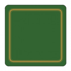 Plymouth Pottery Regal Green Coasters