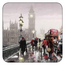 Plymouth Pottery Streets of London coasters