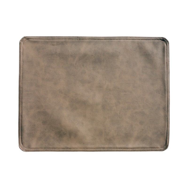 Faux Leather Placemats Light Brown