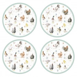 Pimpernel Wrendale Round Tablemats