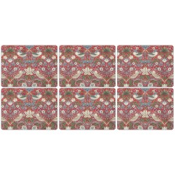 Pimpernel Strawberry Thief Red Tablemats