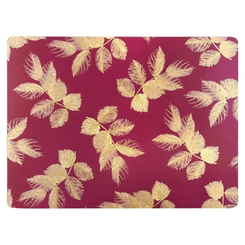 Pimpernel Sara Miller Etched Leaves Pink placemats