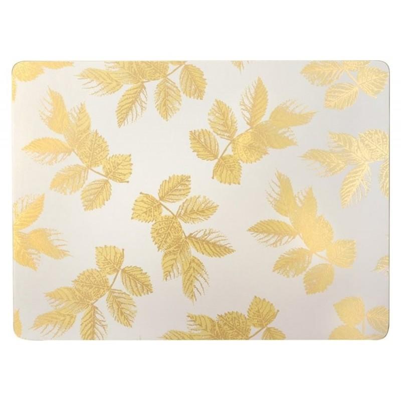 Pimpernel Sara Miller Etched Leaves Light Grey placemats