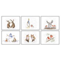 Pimpernel Wrendale Christmas Tablemats