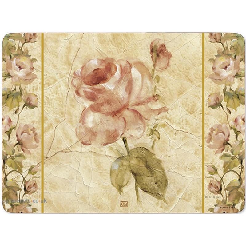 Pimpernel Antique Rose Linen Large Placemats