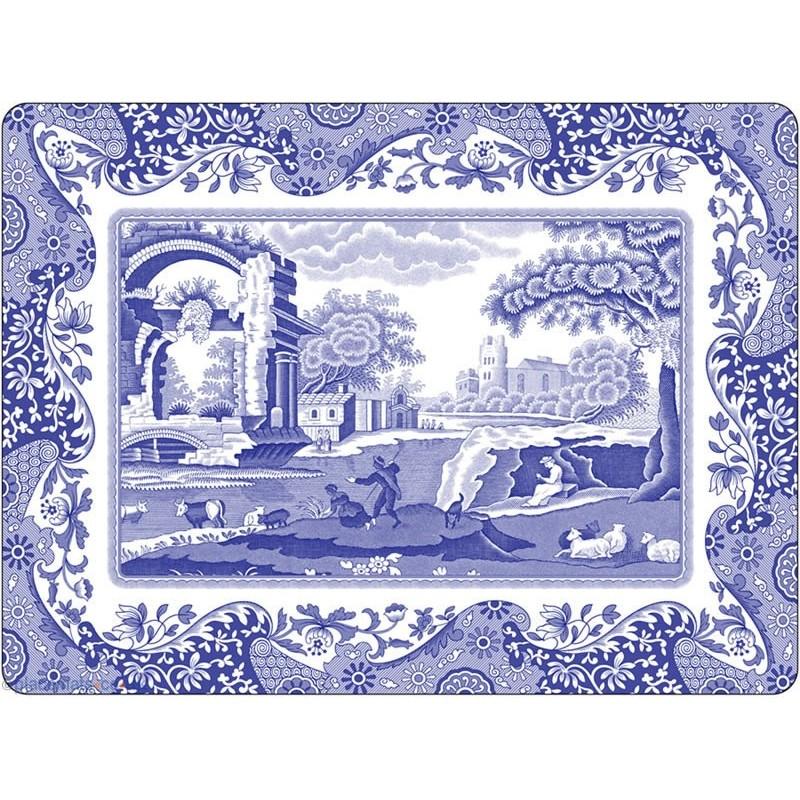 Pimpernel Blue Italian Large Placemats
