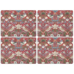 Pimpernel Strawberry Thief Red UK Large Tablemats