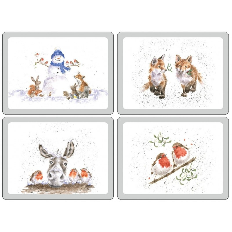 Pimpernel Wrendale Christmas Large Placemats
