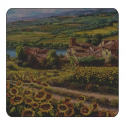 Plymouth Pottery Tuscan Twilight Coasters
