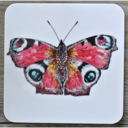 Toasted Crumpet Peacock Butterfly coasters
