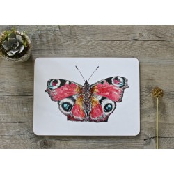 Toasted Crumpet Peacock Butterfly placemats