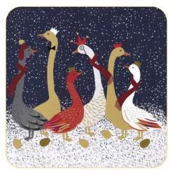 Pimpernel Sara Miller Geese coasters
