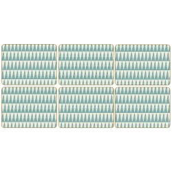 Pittman Teal Triangles Placemats