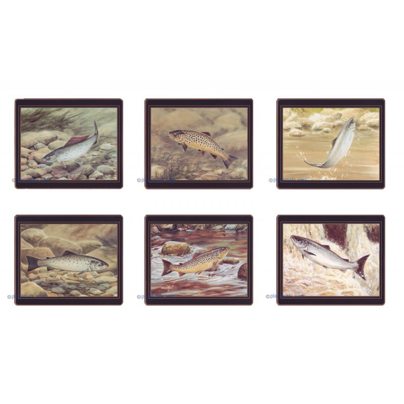 Lady Clare Game Fish Coasters Set of 6