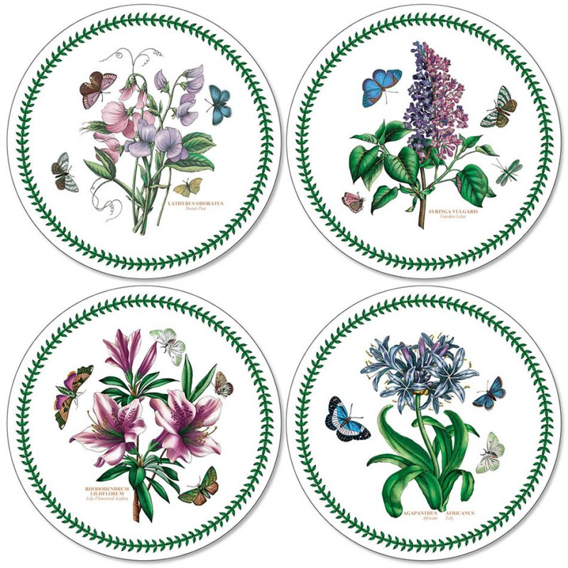 Pimpernel Botanic Garden Round Coasters Set of 4