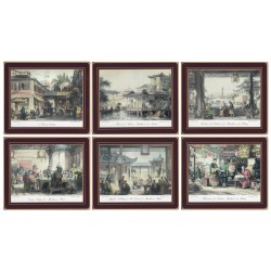 Lady Clare Chinese Engravings Placemats