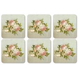 Pimpernel Antique Roses drinks coaster set of 6