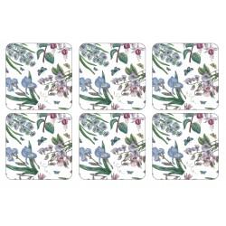 Pimpernel Botanic Garden Chintz drinks coasters, set of 6 classic floral design