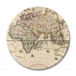 Antique maps melamine placemats round