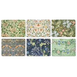 William Morris Mixed Patterns All 6 Designs Tablemats