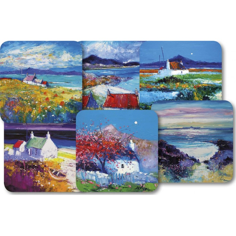 JoLoMo set of 6 square tablemats - assorted designs