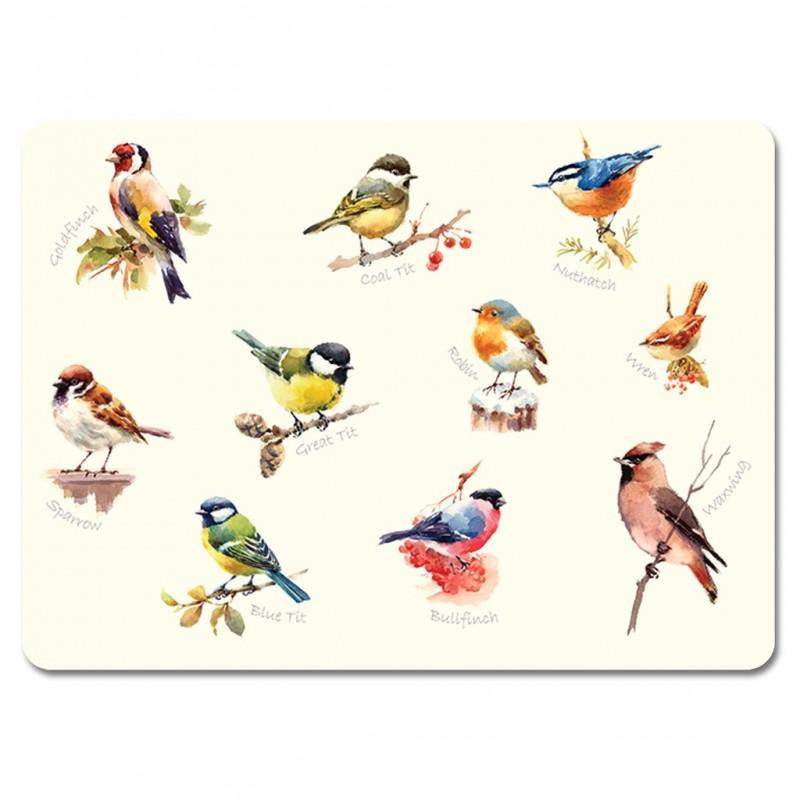 Garden Birds melamine tablemats