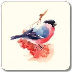 Garden Birds Mixed Square coasters - Bullfinch