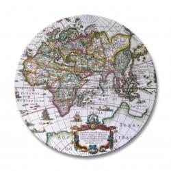 Round drinks coasters Antique Maps design