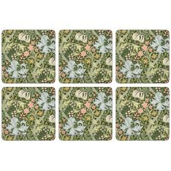 Castle Melamine William Morris Golden Lily drinks coaster set of 6