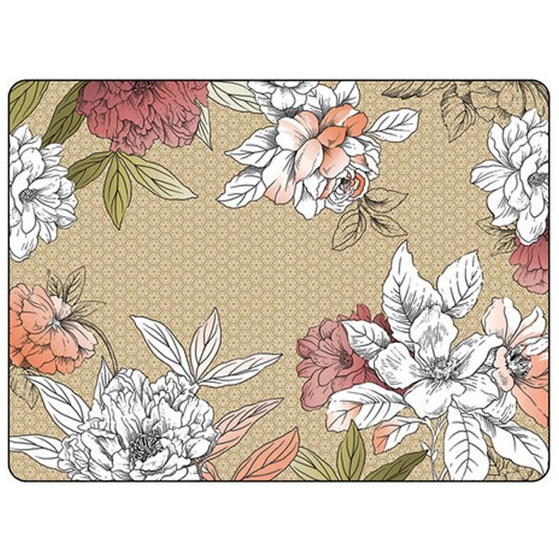 Pimpernel Floral Sketch placemats