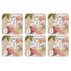 Pimpernel Floral Sketch drinks coasters