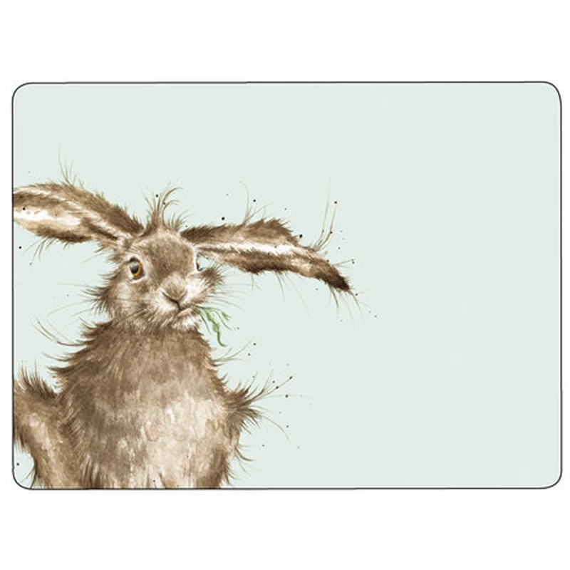 Wrendale Hare cork backed placemats
