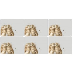 Wrendale Owl cork backed placemats set of six