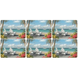 Pimpernel In the Sun place mats set of six