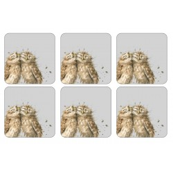 Wrendale Owl Coasters set of six