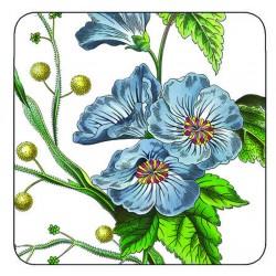 Pimpernel Stafford Blooms drinks coaster blue