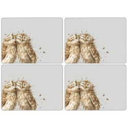 Set of 4 Owl Wrendale Large Place mats