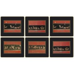 Lady Clare Placemats Pompeii scenes set of six