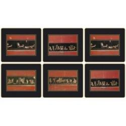 Lady Clare Pompeii Coasters all six