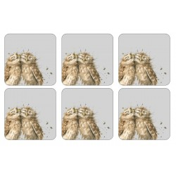 6 Owl coasters by Wrendale